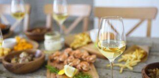wino do krewetek
